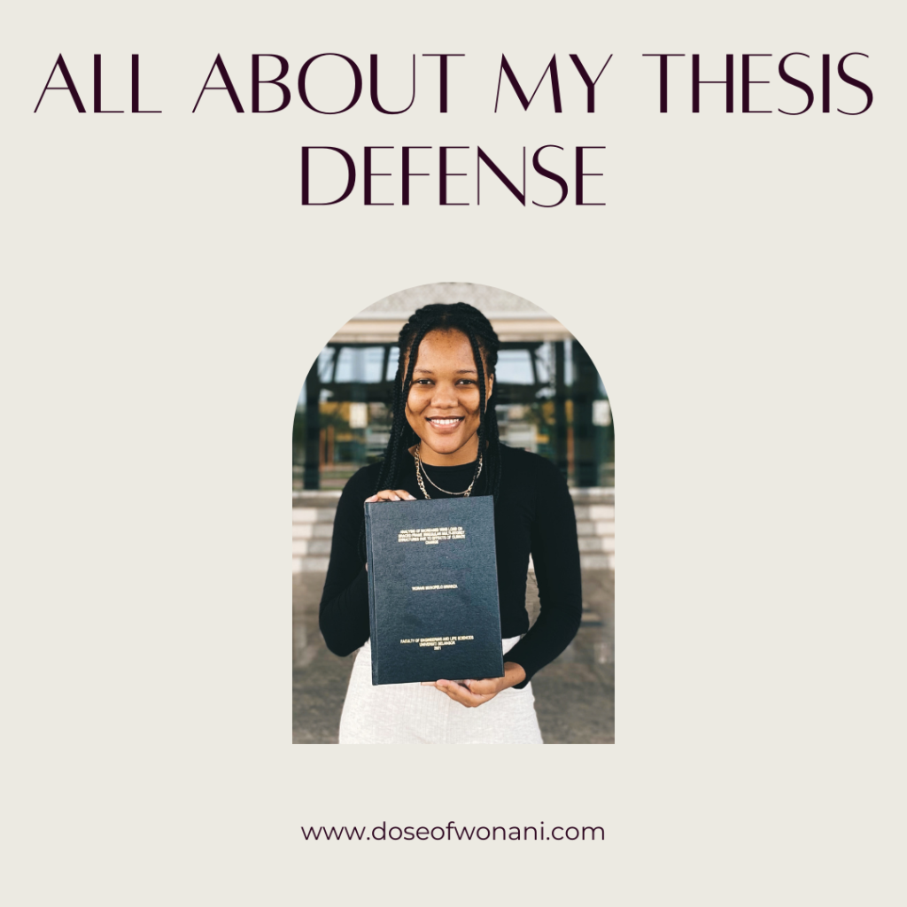 All about my thesis defense.